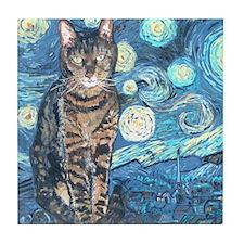 """Starry Night Life"" Tile Coaster"