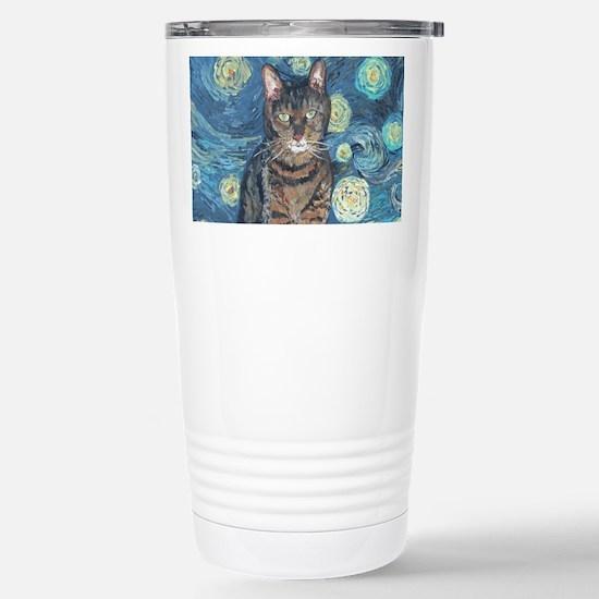 """Starry Night Life"" Stainless Steel Travel Mug"