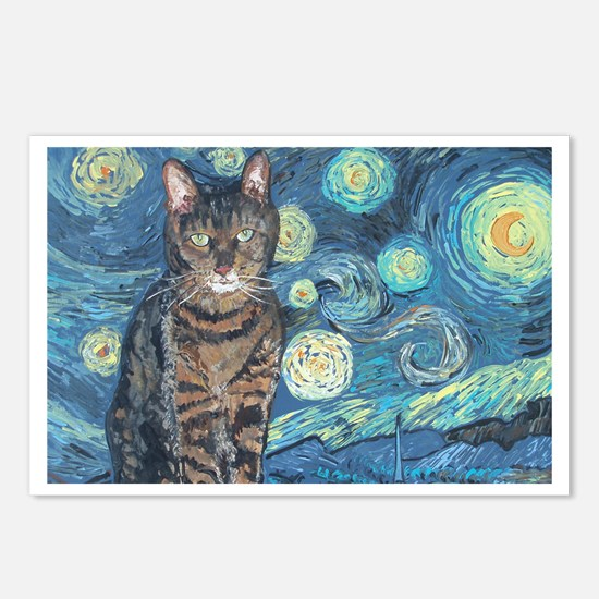 """""""Starry Night Life"""" Postcards (Package of 8)"""