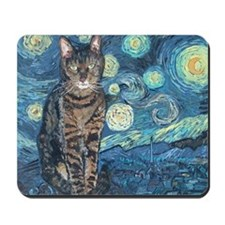 """Starry Night Life"" Mousepad"