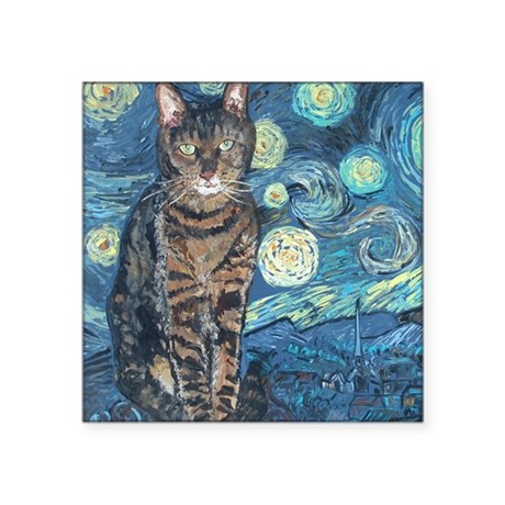"""Starry Night Life"" Square Sticker 3&quo"