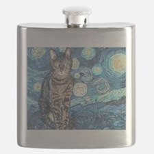 """Starry Night Life"" Flask"