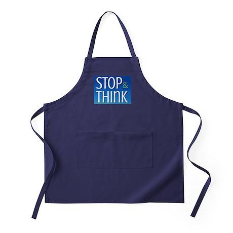 Stop Think Apron (dark)