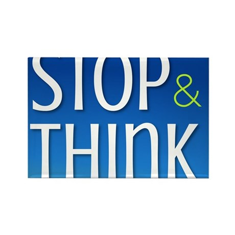 Stop Think Rectangle Magnet (10 pack)