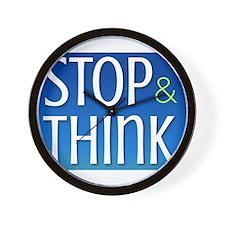 Stop Think Wall Clock