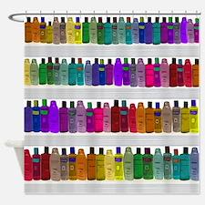 Soap Bottle Rainbow Shower Curtain