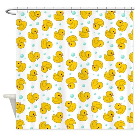 Rubber Ducky Pattern Shower Curtain By Inspirationzstore