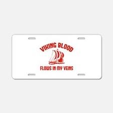 Viking Blood Flows In My Veins Aluminum License Pl