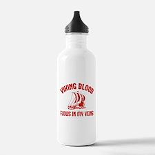 Viking Blood Flows In My Veins Sports Water Bottle