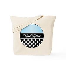 Black Polka Dot Blue Tote Bag