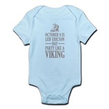 Leif Ericson Day - Party Like A Viking Infant Body