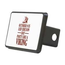 Leif Ericson Day - Party Like A Viking Hitch Cover