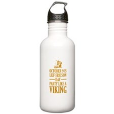 Leif Ericson Day - Party Like A Viking Sports Water Bottle
