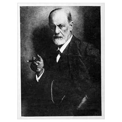Sigmund Freud, Austrian psychologist Poster
