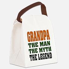 Grandpa The Legend Canvas Lunch Bag