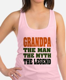 Grandpa The Legend Racerback Tank Top
