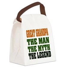 Great Grandpa The Legend Canvas Lunch Bag