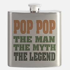 Pop Pop the Legend Flask