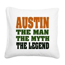 Austin The Legend Square Canvas Pillow