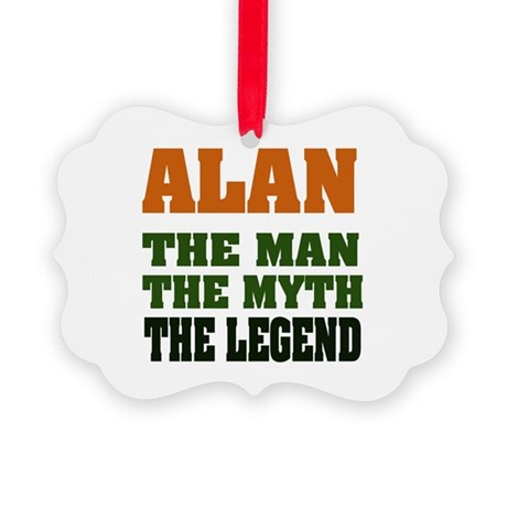 Alan The Legend Picture Ornament