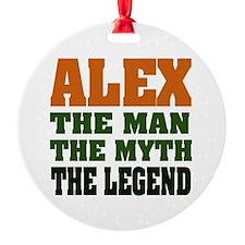 Alex The Legend Round Ornament