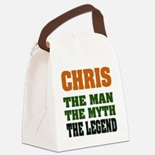 Chris The Legend Canvas Lunch Bag