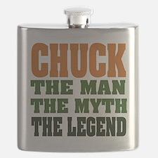 Chuck The Legend Flask