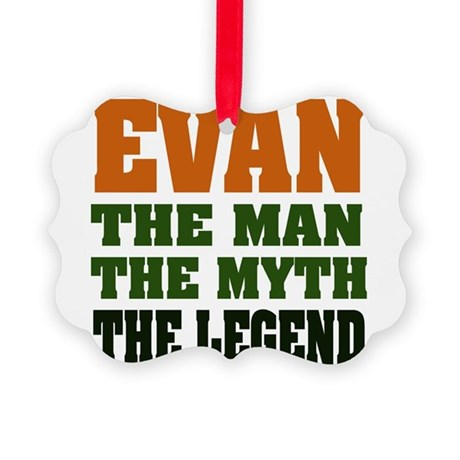 Evan The Legend Picture Ornament