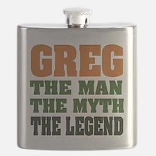 Greg The Legend Flask