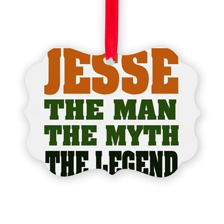 Jesse The Legend Picture Ornament