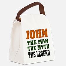 John The Legend Canvas Lunch Bag