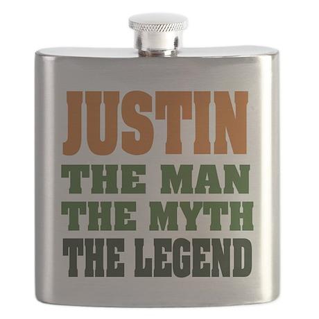 Justin The Legend Flask