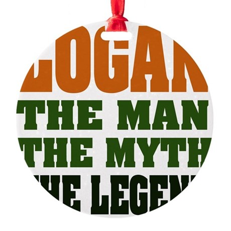 Logan The Legend Round Ornament