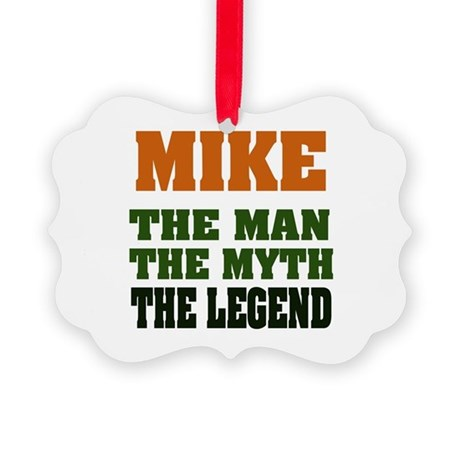 Mike The Legend Picture Ornament