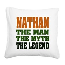 Nathan The Legend Square Canvas Pillow