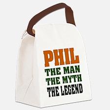 Phil The Legend Canvas Lunch Bag
