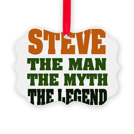 Steve The Legend Picture Ornament