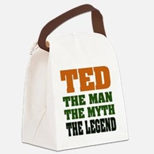 Ted The Legend Canvas Lunch Bag