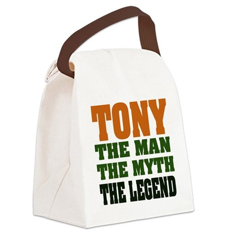 Tony The Legend Canvas Lunch Bag