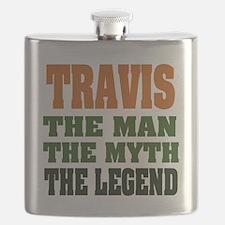 Travis The Legend Flask