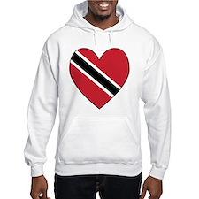 Trinidad & Tobago Flag Heart Hoodie