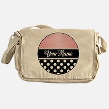 Black Polka Dot Pink Messenger Bag