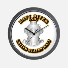 Navy - Rate - ND Wall Clock