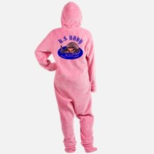 wht_US_Navy_Scuba.png Footed Pajamas