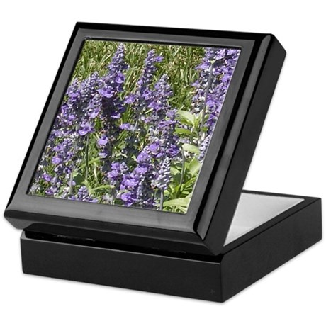 Purple Flowers Keepsake Box