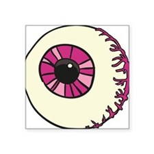 "Halloween Eyeball Square Sticker 3"" x 3"""