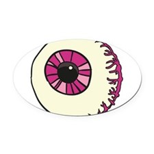 Halloween Eyeball Oval Car Magnet