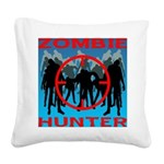 Zombie Hunter Square Canvas Pillow