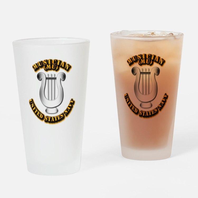 Navy - Rate - MU Drinking Glass