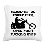 wht_save_biker_fucking_eyes.png Square Canvas Pill